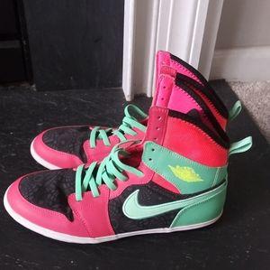 Nike Air Jordan hi sneakers mint coral retro